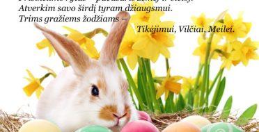 Sveiki sulaukę šv. Velykų!!!